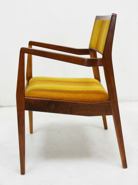 Jens Risom Walnut Playboy Chair C140 C142 Mid Century Danish Modern 7
