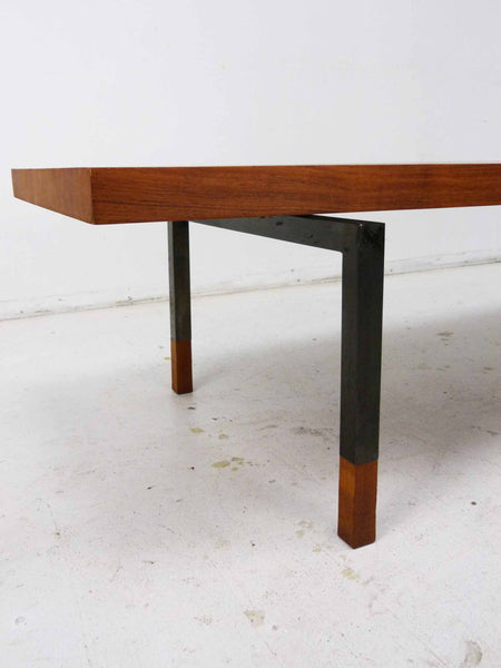 Johannes Aasbjerg For Illums Bolighus Teak & Steel Coffee Table