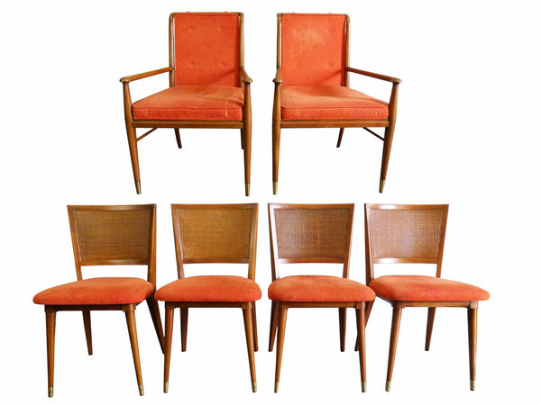 John Widdicomb J. Stuart Clingman Dining Table Chairs Mid-Century Img 2