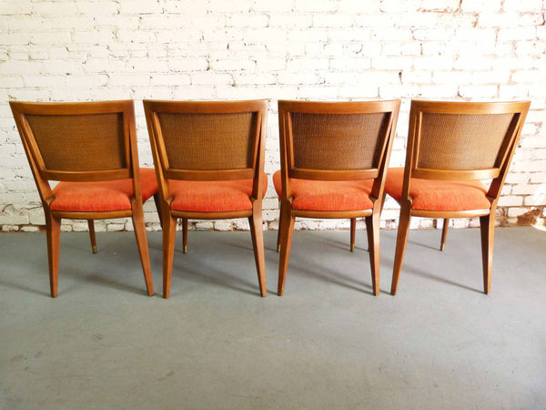 John Widdicomb J. Stuart Clingman Dining Table Chairs Mid-Century Img 3