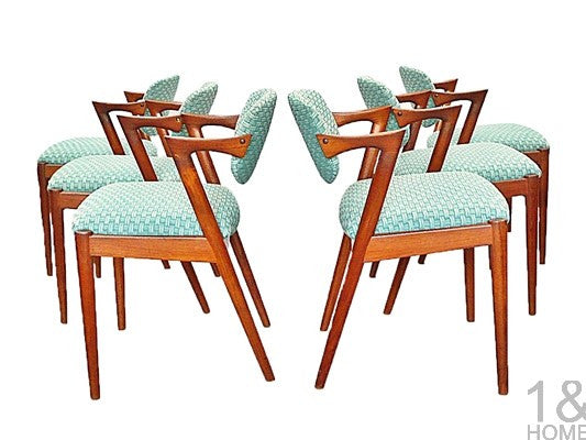 Set of 6 - Kai Kristiansen Danish Teak Z Dining Chairs