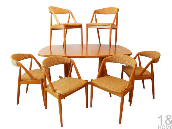 Kai Kristiansen for Schou Andersen teak Danish Modern Dining Chairs
