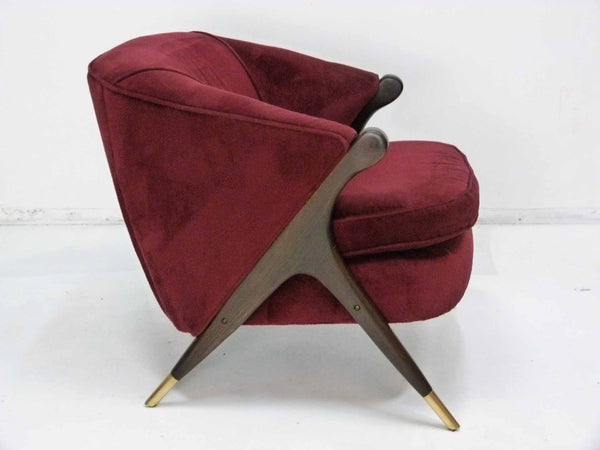 Mid-Century Modernist Lounge Chair by Karpen Right Side