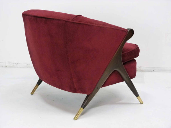 Mid-Century Modernist Lounge Chair by Karpen angle back