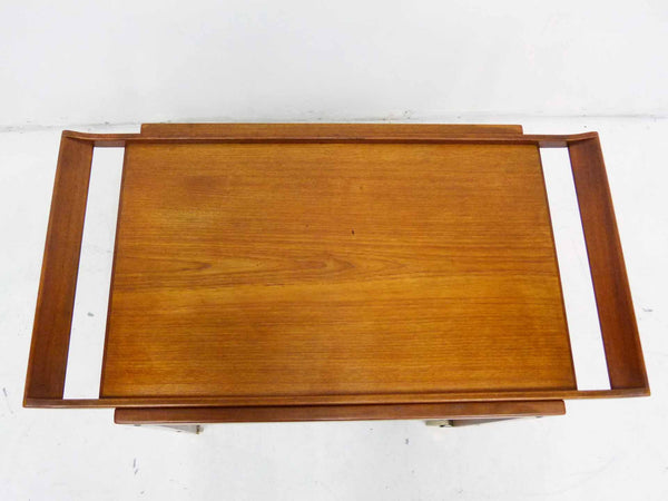 Tove Edvard Kindt-Larsen Danish Teak Serving Bar Cart Top