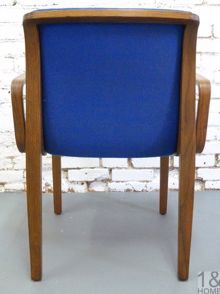 Bill Stephens for Knoll Blue Armchairs, s/6