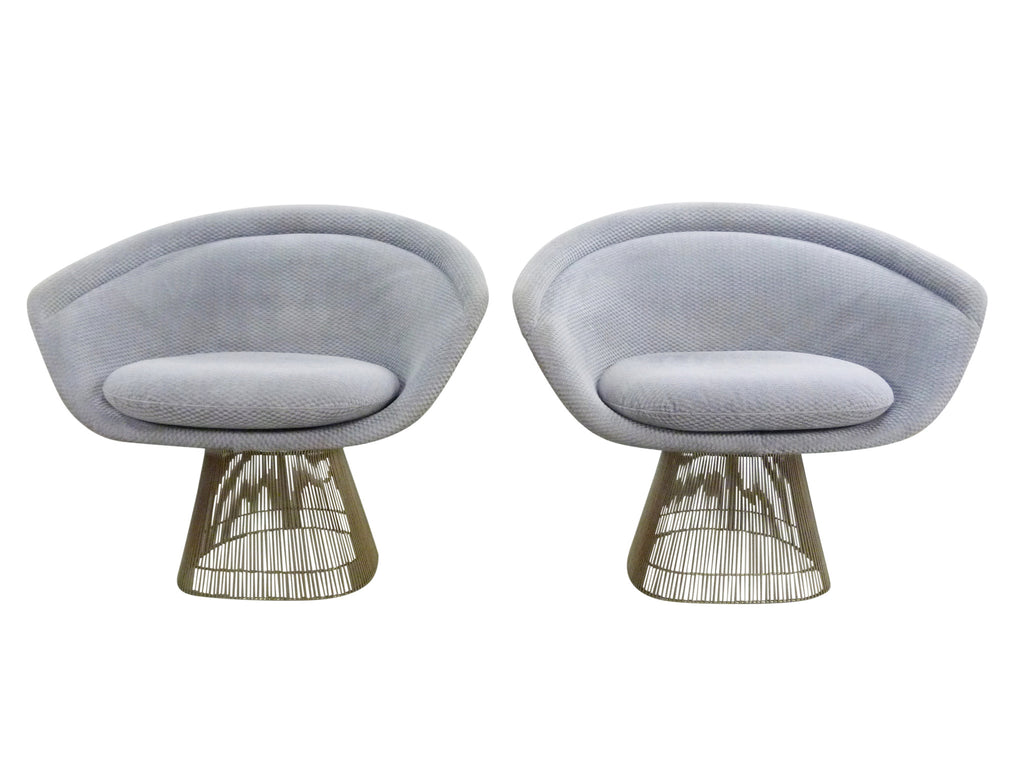 Knoll Wide Lounge Chairs 1715 Warren Platner Vintage 1