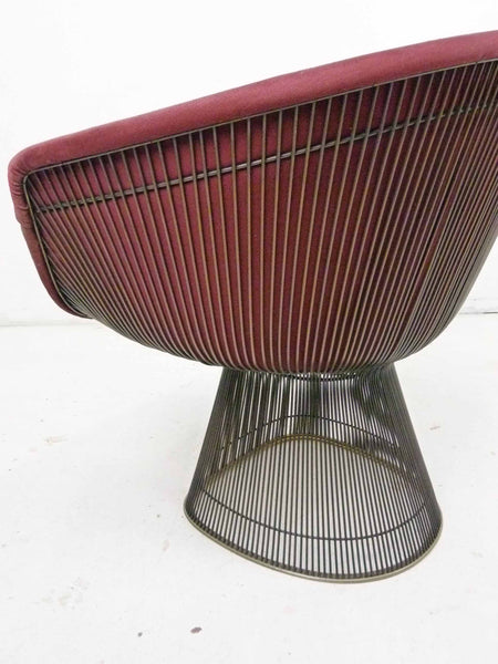 Knoll Bronze Lounge Chairs by Warren Platner, Pair