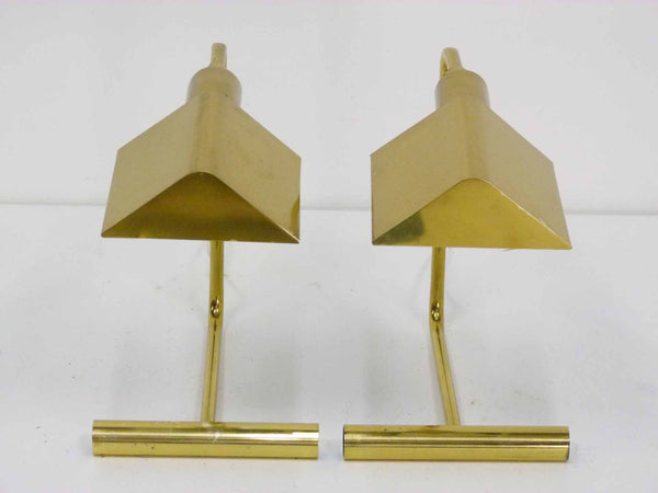 Koch Lowy Omni Brass Mid century cantilever articulating desk lamps 2