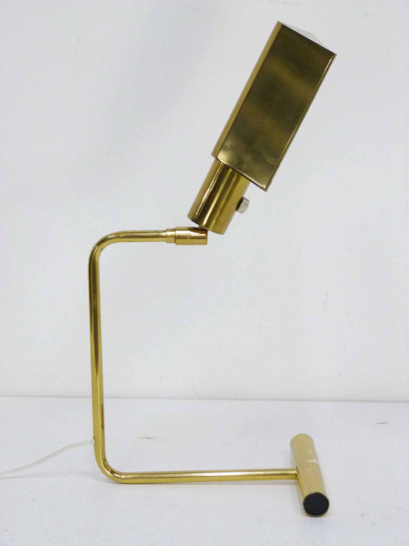 Koch Lowy Omni Brass Mid century cantilever articulating desk lamps 7