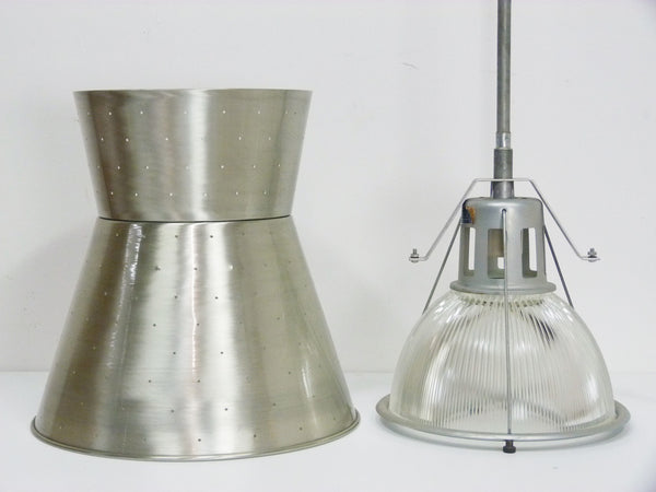 Industrial Hourglass Lobay 682 Commercial Mid Century Holophane Barn Light 3