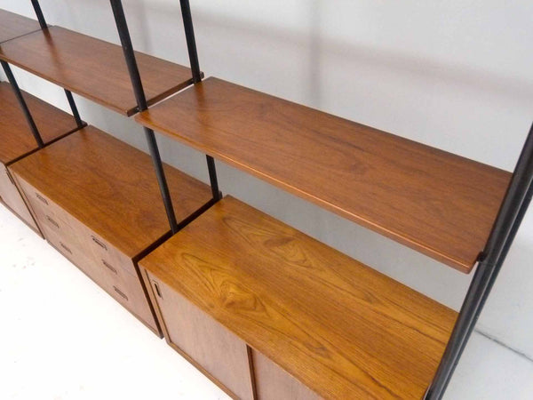 Lyby Danish Modern Teak Wall Unit Bookshelf Room Divider 7