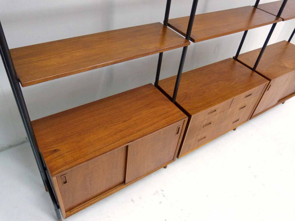 Lyby Danish Modern Teak Wall Unit Bookshelf Room Divider 6