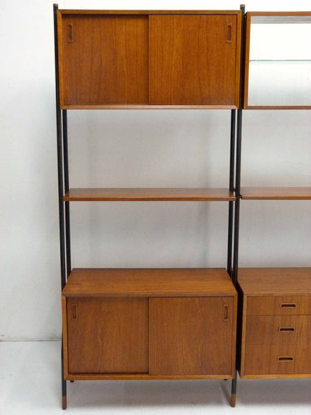 Lyby Danish Modern Teak Wall Unit Bookshelf Room Divider 8
