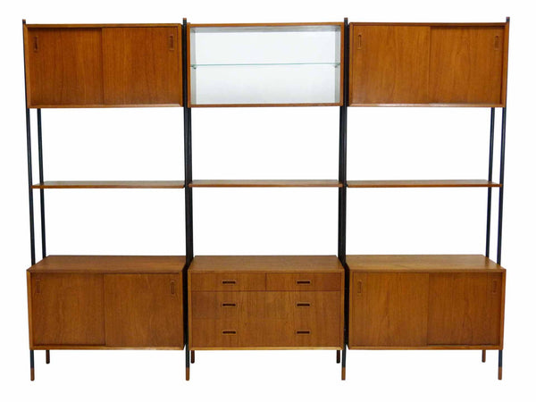 Lyby Danish Modern Teak Wall Unit Bookshelf Room Divider 1