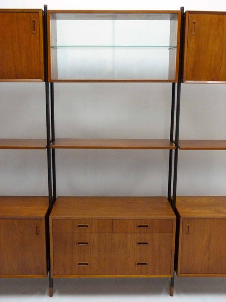 Lyby Danish Modern Teak Wall Unit Bookshelf Room Divider 9