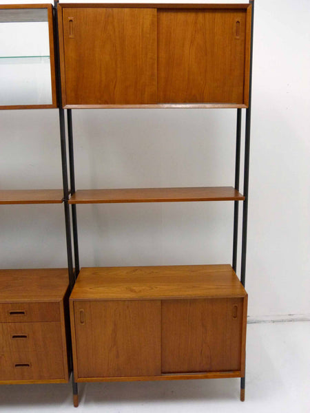 Lyby Danish Modern Teak Wall Unit Bookshelf Room Divider 10