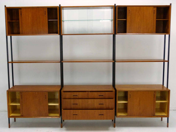 Lyby Danish Modern Teak Wall Unit Bookshelf Room Divider 3