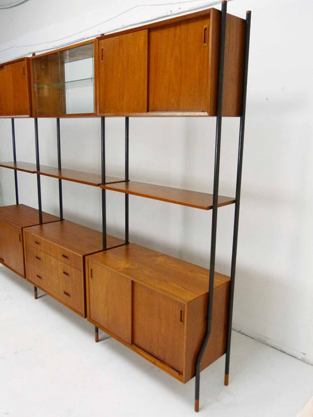 Lyby Danish Modern Teak Wall Unit Bookshelf Room Divider 5