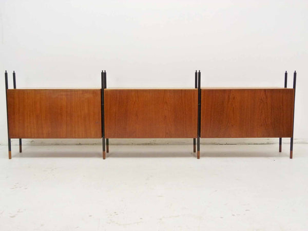Lyby Danish Modern Teak Wall Unit Bookshelf Room Divider 11