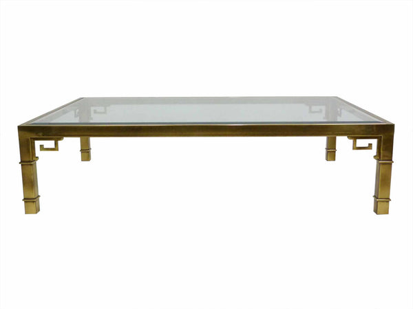 Mastercraft Greek Key Brass Coffee Table 1