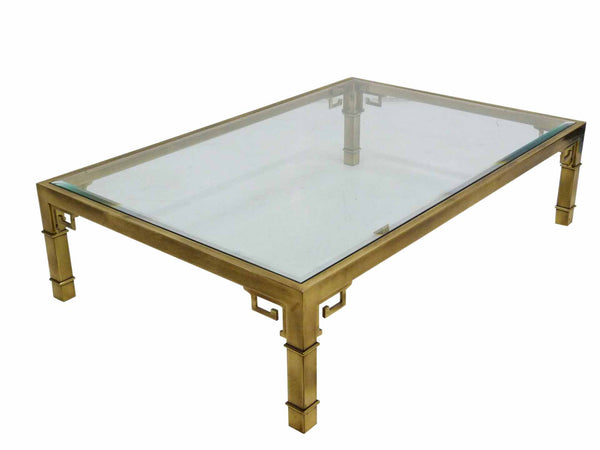 Mastercraft Greek Key Brass Coffee Table 2