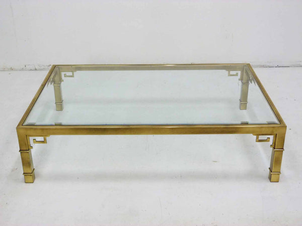 Mastercraft Greek Key Brass Coffee Table 3