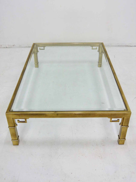 Mastercraft Greek Key Brass Coffee Table 4