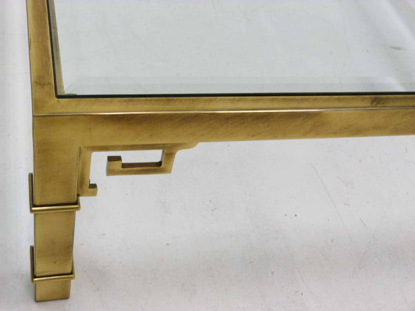 Mastercraft Greek Key Brass Coffee Table 5