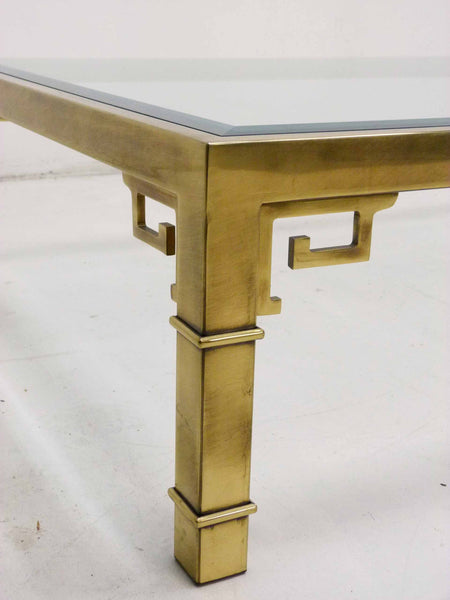 Mastercraft Greek Key Brass Coffee Table 6