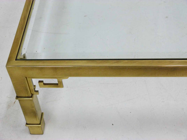 Mastercraft Greek Key Brass Coffee Table 7