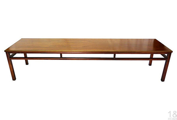 McCobb-Style Imperial Grand Rapids Mid-Century Walnut & Brass Coffee Table Img 1