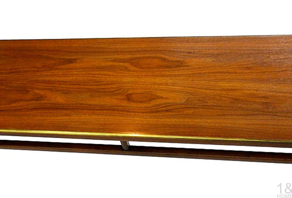 McCobb-Style Imperial Grand Rapids Mid-Century Walnut & Brass Coffee Table Img 4