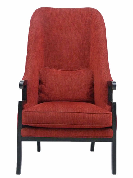 Milo Baughman Thayer Coggin Tall Back Asian Regency Arm Chair 1