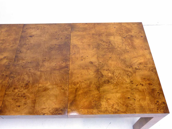 Milo baughman Parsons Burl Wood Parsons Dining Table 11