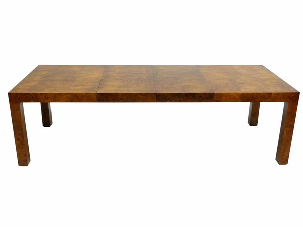 Milo baughman Parsons Burl Wood Parsons Dining Table 1