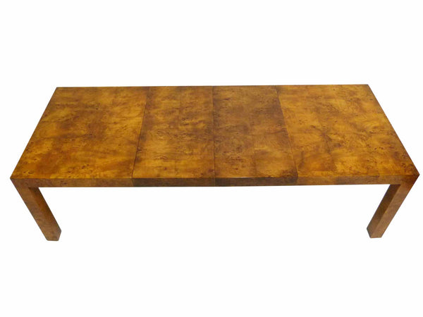 Milo baughman Parsons Burl Wood Parsons Dining Table 2