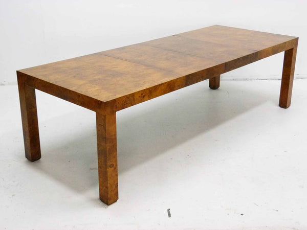Milo baughman Parsons Burl Wood Parsons Dining Table 3