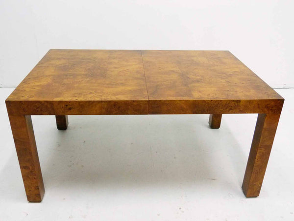 Milo baughman Parsons Burl Wood Parsons Dining Table 4