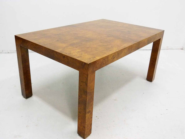 Milo baughman Parsons Burl Wood Parsons Dining Table 5