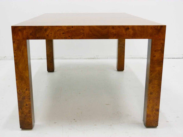 Milo baughman Parsons Burl Wood Parsons Dining Table 6