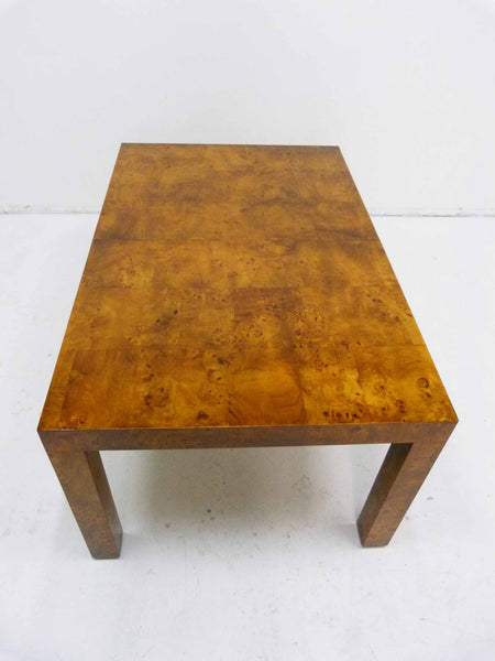 Milo baughman Parsons Burl Wood Parsons Dining Table 7