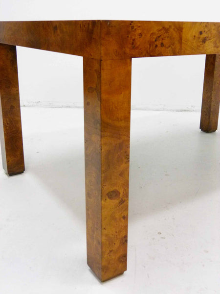 Milo baughman Parsons Burl Wood Parsons Dining Table 9