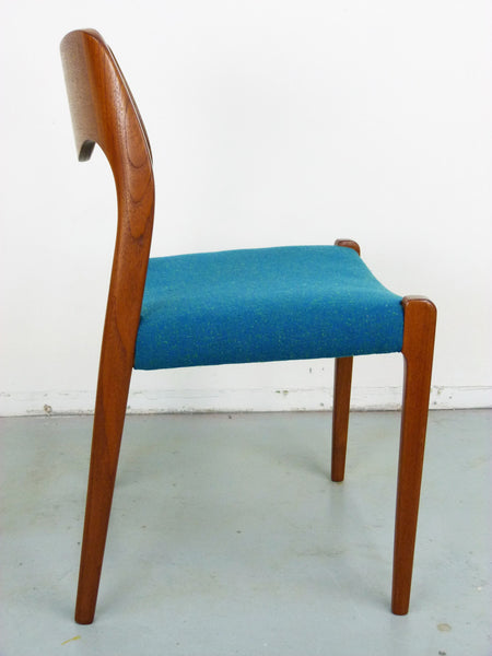 Niels Moller No. 71 Danish Modern Teak Dining Chairs Img 9