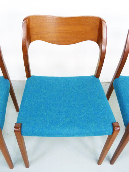 Niels Moller No. 71 Danish Modern Teak Dining Chairs Img 10