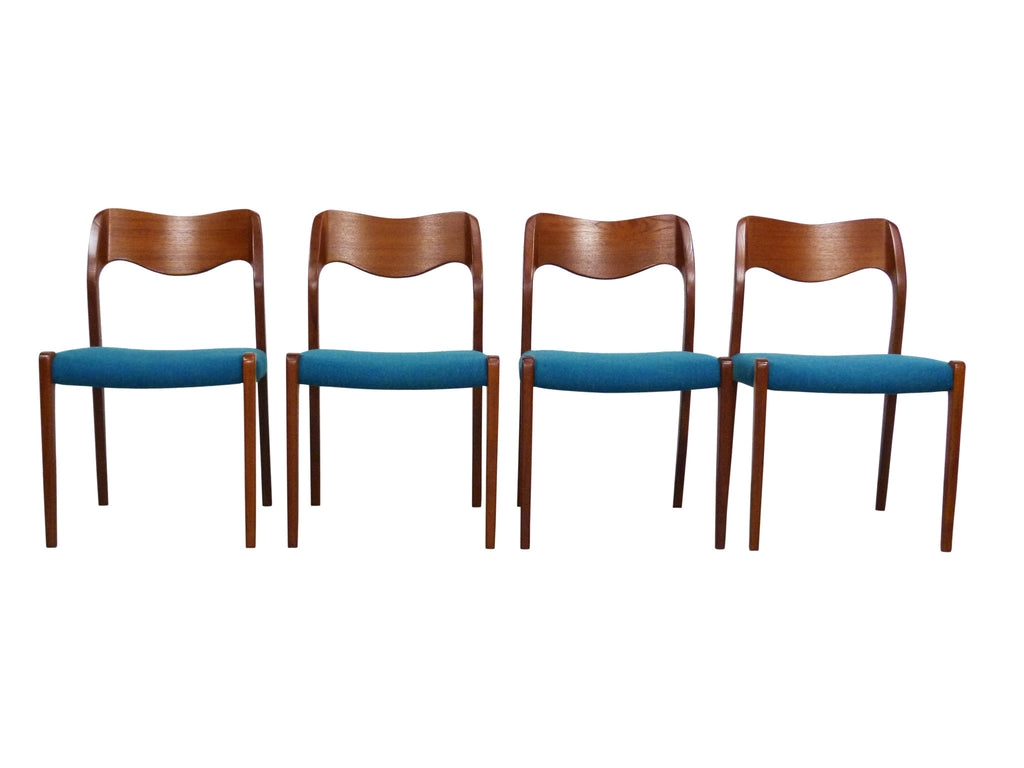 Niels Moller No 71 Danish Modern Teak Dining Chairs OneAndHome