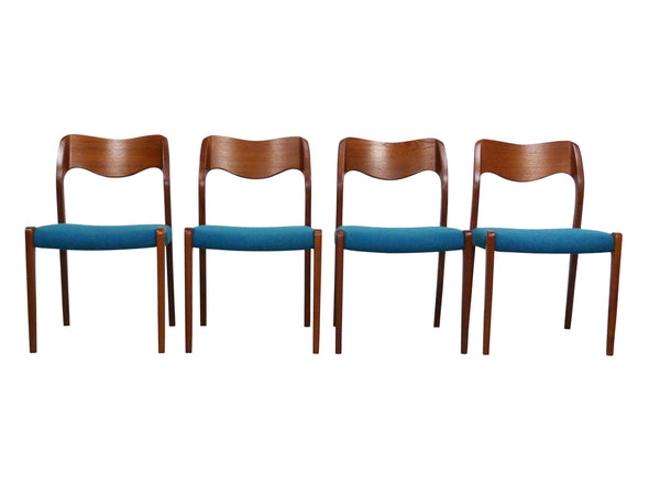 Niels Moller No. 71 Danish Modern Teak Dining Chairs Img 1