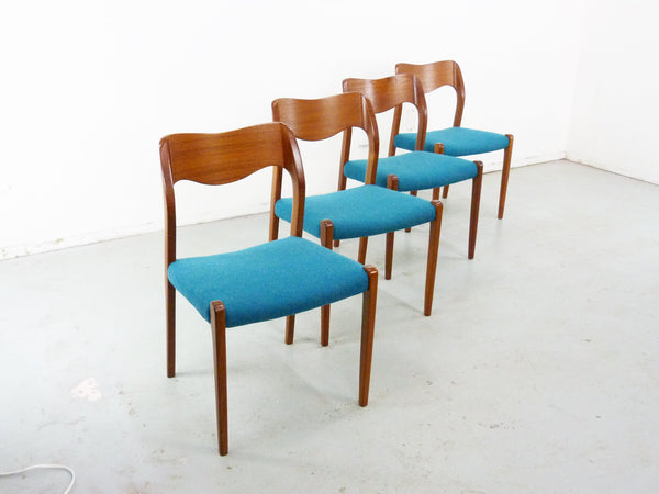 Niels Moller No. 71 Danish Modern Teak Dining Chairs Img 4