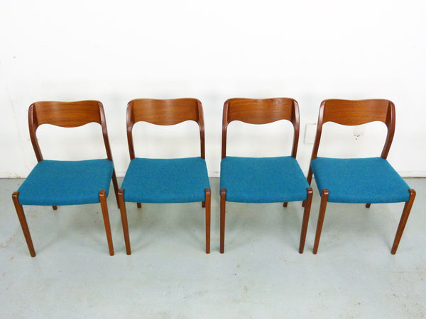 Niels Moller No. 71 Danish Modern Teak Dining Chairs Img 2