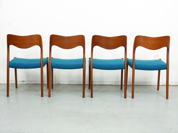 Niels Moller No. 71 Danish Modern Teak Dining Chairs Img 3